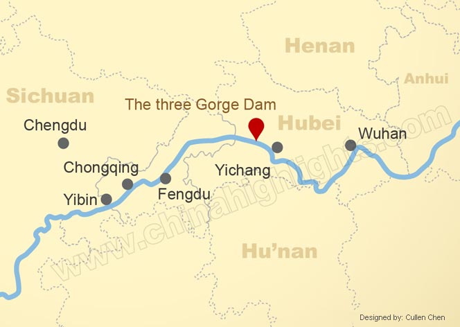 Map of the Middle Reaches of the Yangtze
