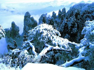Zhangjiajie Snowing Weather